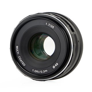 Meike 35mm F1.7 Objektiv multicoated für Sony E-Mount