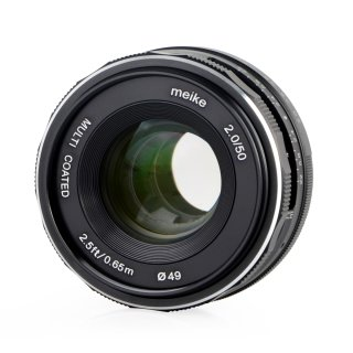 Meike 50mm F2.0 Objektiv multicoated für Sony E-Mount